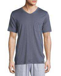 Hanro - Blue Night & Day Short-sleeve Tee W/pocket for Men - Lyst