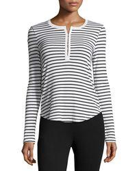 Splendid - Multicolor Venice Long-sleeve Striped Top - Lyst