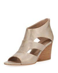 Donald J Pliner - Multicolor Jenkin Leather Demi-wedge Sandals - Lyst