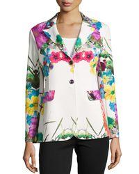 Berek - White Flower Pop Two-button Jacket - Lyst