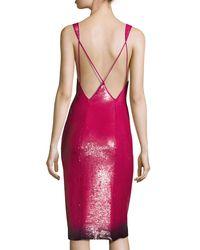 Ralph Lauren Collection - Pink Sequined Ombre-hem Sleeveless Dress - Lyst