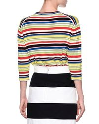 Dolce & Gabbana - Multicolor Cherry-embroidered Striped Top - Lyst