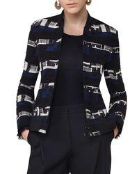 Akris Punto - Blue Knit Jacquard Bomber Jacket - Lyst