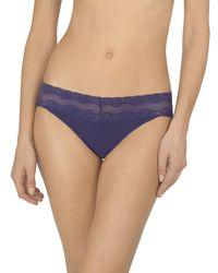 Natori Purple Bliss Perfection V-kini Briefs (one Size)