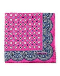 Edward Armah - Pink Medallion Pocket Square - Lyst