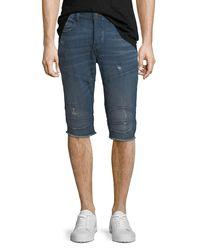 True Religion - Blue Rocco Endless Road Biker Shorts for Men - Lyst