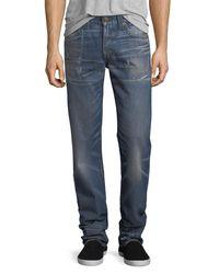 True Religion - Blue Geno Slim-straight Denim Jeans for Men - Lyst