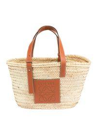 Loewe - Brown Medium Raffia Basket Tote Bag - Lyst