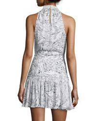 Elizabeth and James - Gray Wind Carlita Halter-neck Mini Dress - Lyst