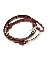 Miansai - Brown Hook Leather Bracelet - Lyst