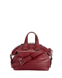 Givenchy - Red Nightingale Small Leather Biker-stitch Satchel Bag - Lyst