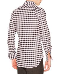 Thom Browne - White Check Long-sleeve Sport Shirt for Men - Lyst