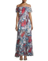 Nicholas - Multicolor Off-the-shoulder Paisley-print Maxi Dress - Lyst
