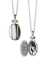 Monica Rich Kosann - Metallic Sterling Silver And 18k Yellow Gold Locket Necklace - Lyst