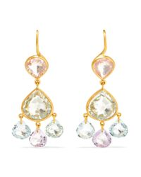 Marie-hélène De Taillac - Metallic 18-karat Gold Multi-stone Earrings - Lyst