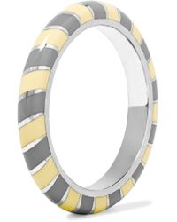 Alice Cicolini - Candy 18-karat White Gold Enamel Ring - Lyst