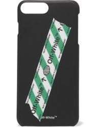 Off-White c/o Virgil Abloh - Black Printed Plastic Iphone 7 Plus Case - Lyst