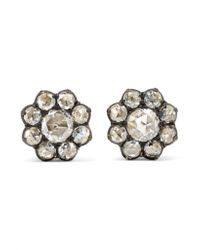 Fred Leighton - Metallic Collection 18-karat Gold Diamond Earrings - Lyst