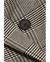 Stella McCartney - Gray Milly Prince Of Wales Checked Wool-blend Blazer - Lyst