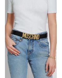 Moschino - Black Olivia Embellished Patent-leather Belt - Lyst