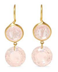 Marie-hélène De Taillac | Metallic 18-karat Gold Quartz Earrings | Lyst