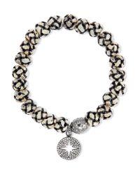 Loree Rodkin   Metallic Oxidized Sterling Silver, Diamond And Bone Bracelet   Lyst