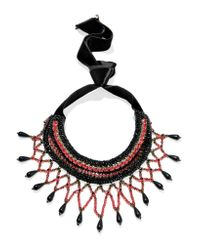 Etro - Black Crystal And Bead-embellished Necklace - Lyst