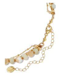 Chan Luu - Metallic Gold-plated, Amazonite And Bead Necklace - Lyst