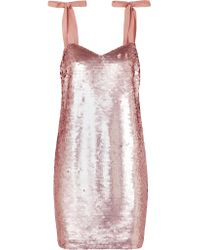 J.Crew - Pink Yokners Paillette-embellished Tulle Mini Dress - Lyst