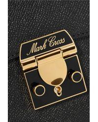 Mark Cross - Black Sac Porté épaule En Cuir Texturé Bicolore Dorothy - Lyst