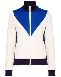 Tory Sport - White Color-block Piqué Track Jacket - Lyst
