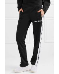 Palm Angels - Black Striped Jersey Track Pants - Lyst