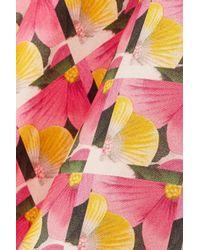 Biyan - Pink Schielle Printed Silk Peplum Top - Lyst