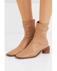 Acne Natural Bertine Leather Ankle Boots