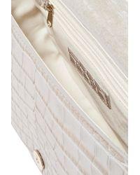 Little Liffner | Gray D Saddle Medium Croc-effect Leather Shoulder Bag | Lyst