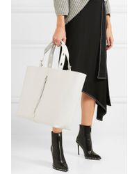 Kara - Woman Leather Tote White Size -- - Lyst
