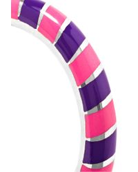 Alice Cicolini - Pink Candy 18-karat White Gold Enamel Ring - Lyst