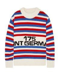 Sonia Rykiel   Red Oversized Intarsia Wool Sweater   Lyst
