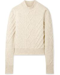 Isabel Marant - Natural Brantley Cable-knit Wool-blend Sweater - Lyst