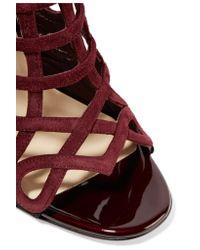 Christian Louboutin - Black Cajac 100 Suede Sandals - Lyst