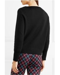 J.Crew - Black Orchard Merino Wool And Cotton-blend Sweater - Lyst