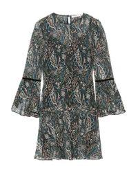 Veronica Beard | Multicolor Denver Printed Silk-chiffon Mini Dress | Lyst