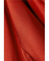 Narciso Rodriguez - Red One-shoulder Draped Silk-charmeuse Top - Lyst