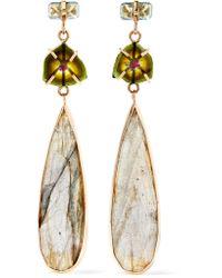 Melissa Joy Manning - Metallic 14-karat Gold Multi-stone Earrings - Lyst