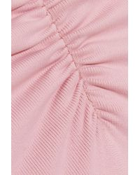 Eberjey - Pink So Solid Sasha Ruched Swimsuit - Lyst