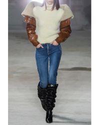 Saint Laurent - White Knitted Turtleneck Sweater - Lyst