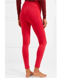 Falke - Red Stretch-knit Leggings - Lyst