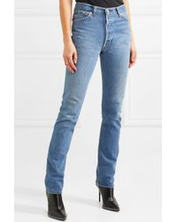 Re/done - Blue + Cindy Crawford The Crawford High-rise Straight-leg Jeans - Lyst