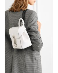 Alexander Wang - White Hook Mini Smooth And Textured-leather Backpack - Lyst