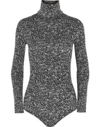 Wolford - Gray Cluster Jacquard Turtleneck Bodysuit - Lyst